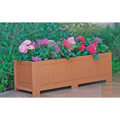Catalina 34 in. x 12 in. Cedar Recycled Plastic Commercial Grade Planter Box