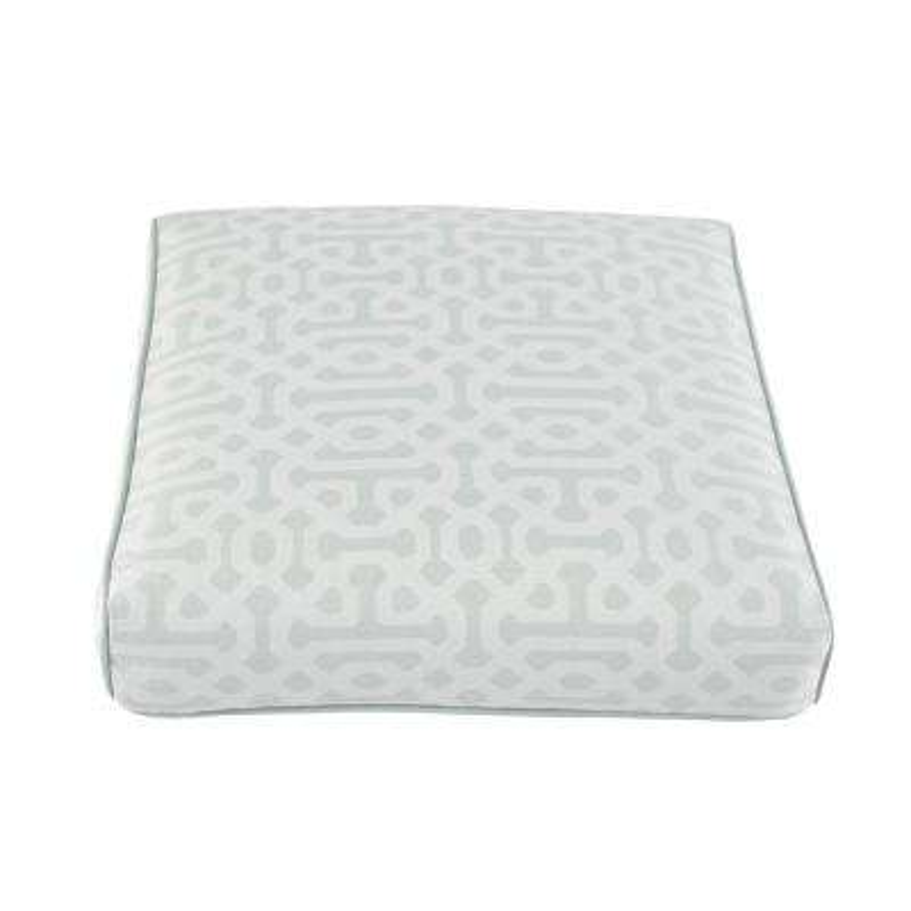 Camden Sunbrella Fretwork Mist Replacement Outdoor Ottoman Cushion