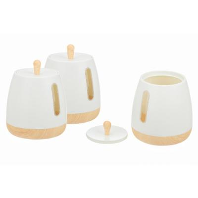 European Collection 3-Piece Plastic Canister Set