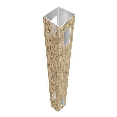 5 in. x 5 in. x 9 ft. Birchwood Vinyl Pre-Routed Fence Line Post