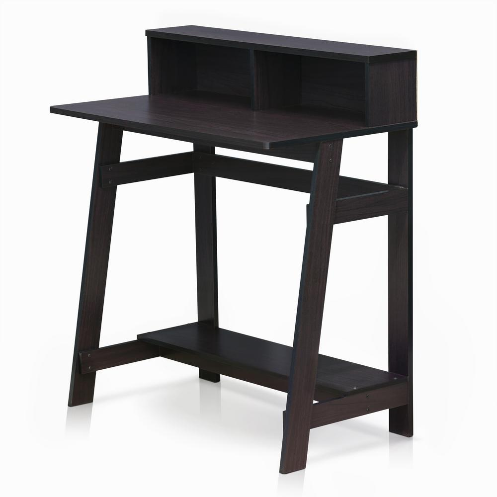 Furinno Compact French Oak Grey Computer Desk 11181gyw Bk