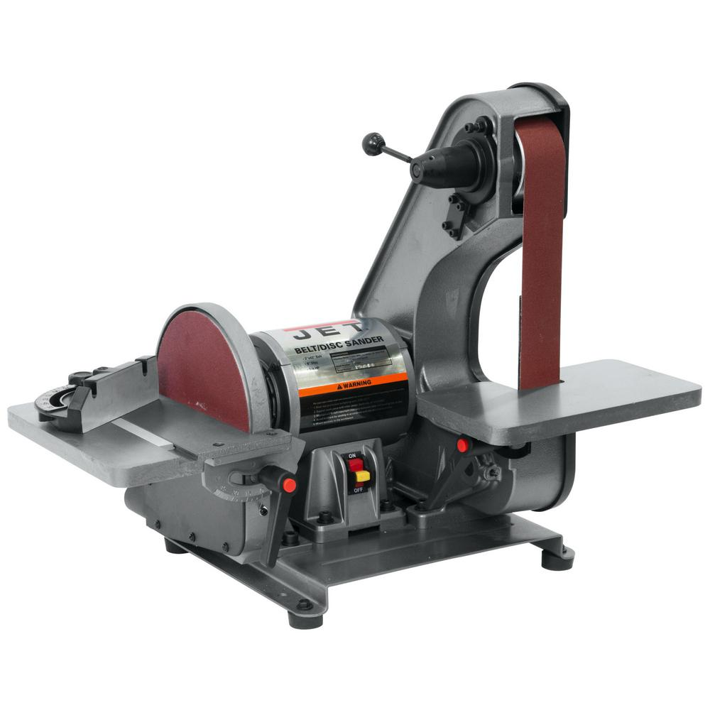Magnificent Jet 3 4 Hp 2 In X 42 In Benchtop Belt And 8 In Disc Sander 115 Volt J 41002 Machost Co Dining Chair Design Ideas Machostcouk