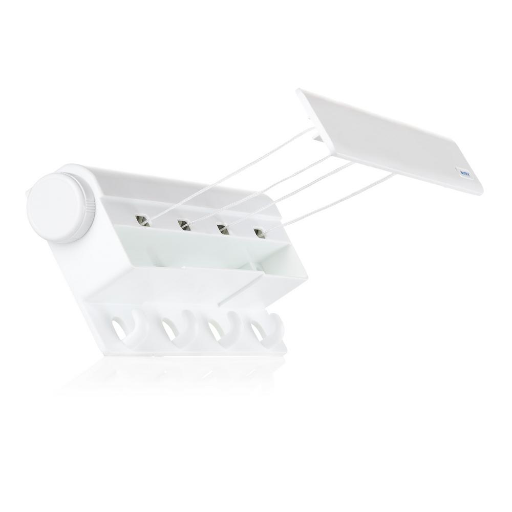 MINKY Indoor 4-Line Retractable Clothesline, White