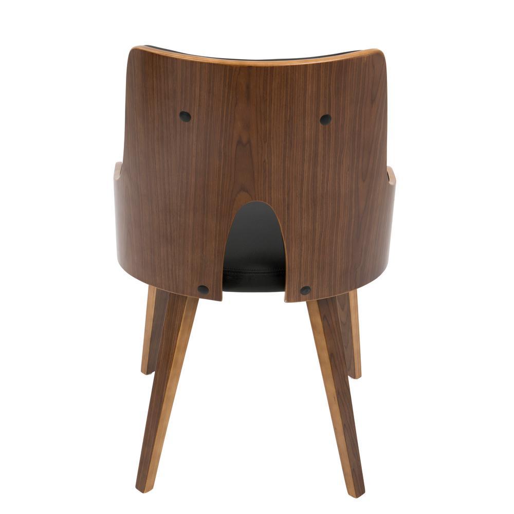 Terrific Lumisource Stella Mid Century Walnut And Black Modern Dining Creativecarmelina Interior Chair Design Creativecarmelinacom