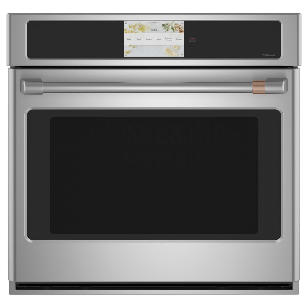 Cafe 30 in. Smart Single Electric Smart Wall Oven with Convection Self-Cleaning and Wi-Fi in Stainless Steel