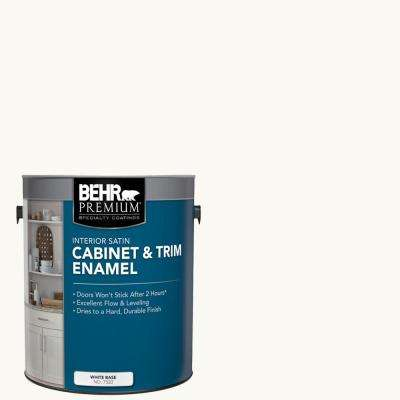 1 Gal. Ultra-Pure White Base Satin Interior Cabinet and Trim Paint