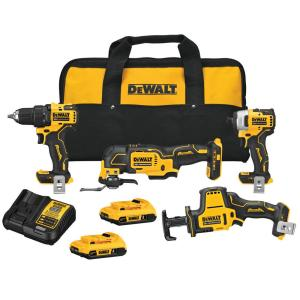 Dewalt ATOMIC 20-Volt Lithium-Ion Combo Kit with Batteries & Charger