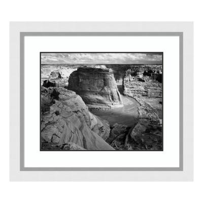 """""""View of valley from mountain, Canyon de Chelly, AZ - National Parks & Monuments, 1941"""" by Ansel Adams Framed Wall Art"""