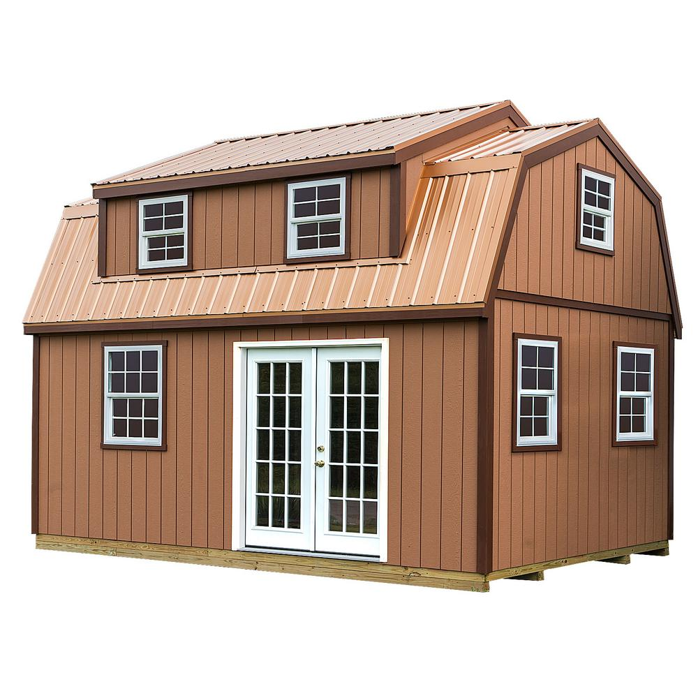 Lakewood 12 Ft X 18 Ft Wood Storage Shed Kit With Floor