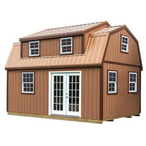 Lakewood 12 ft. x 18 ft. Wood Storage Shed Kit with Floor by