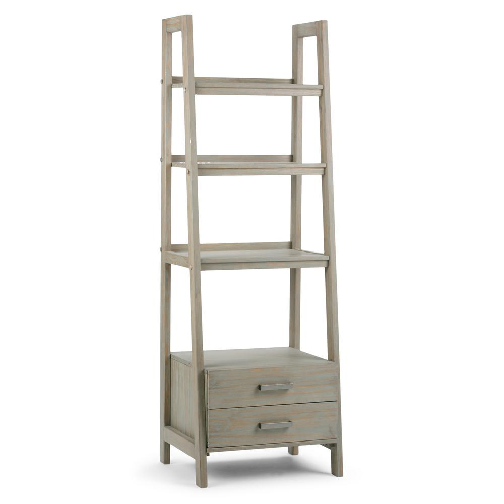This Review Is From:Sawhorse Distressed Grey Storage Ladder Bookcase