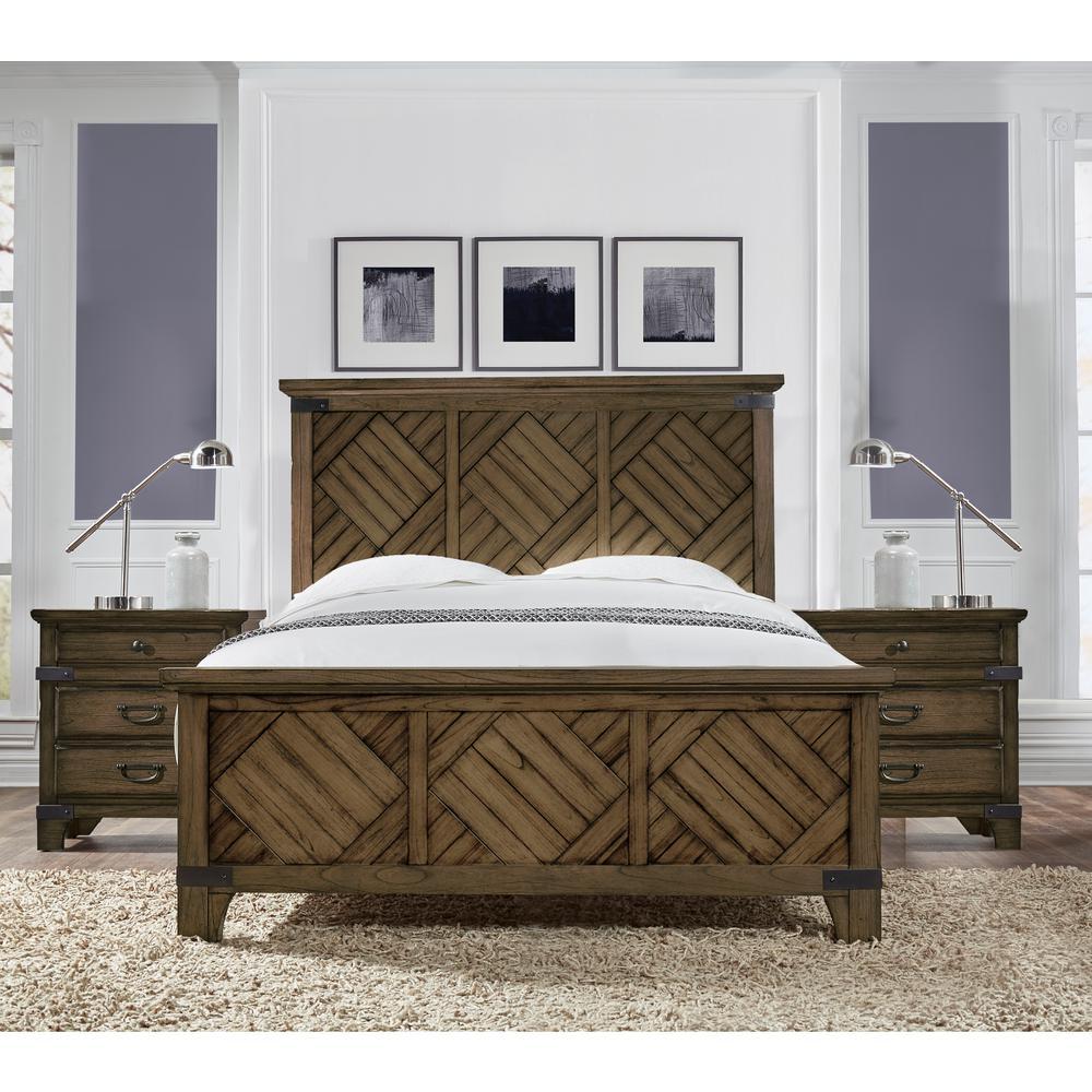 Lifestyle Solutions Baltimore Vintage Brown King Bed BRO-EKB-VB-SET ...