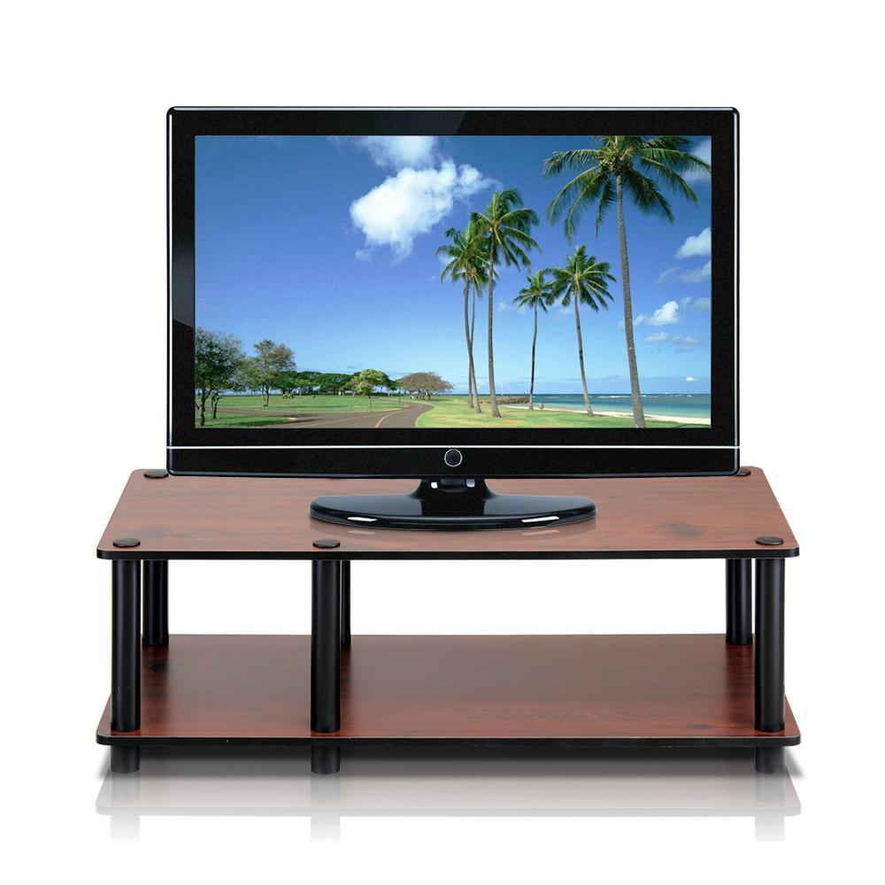 llytech inc just no tools dark cherry television stand 11174dc bk bk the home depot. Black Bedroom Furniture Sets. Home Design Ideas