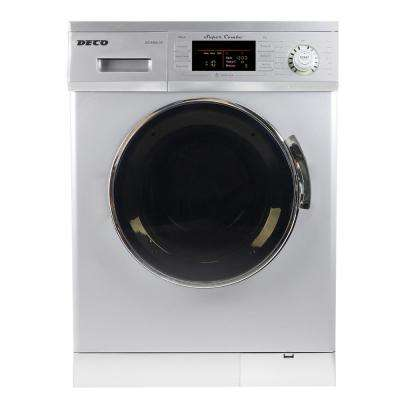 1.6 cu. ft. All-in-One Compact Combo Washer and Electric Dryer with Optional Condensing/Venting and Sensor Dry in Silver