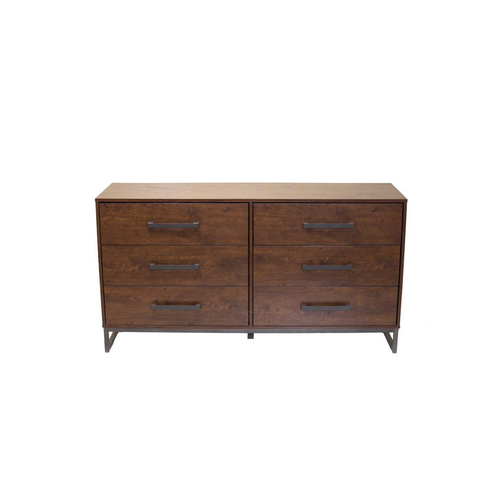 Homestar Lincoln 6-Drawer Reclaimed Cherry Dresser H7224