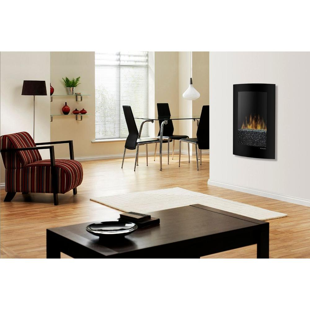 Dimplex Convex 35 in. Wall-Mount Electric Fireplace in Black