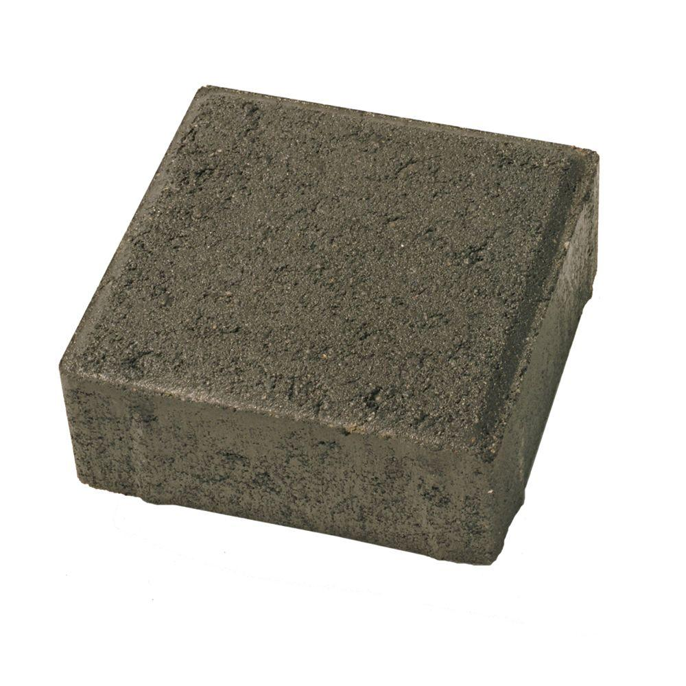 Basalite 6 in. x 6 in. Lamp Black Concrete Paver