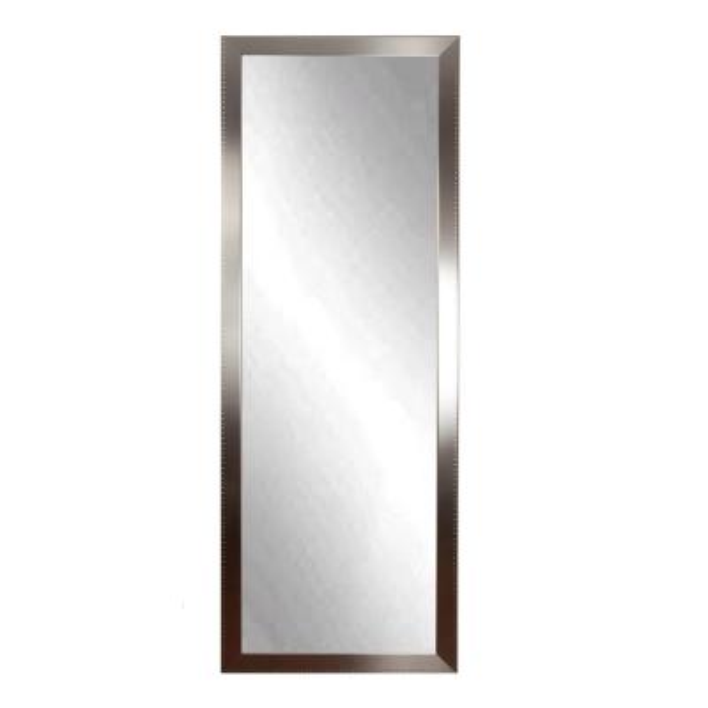 Oversized Silver Composite Hooks Modern Mirror (69 in. H X 19.5 in. W)