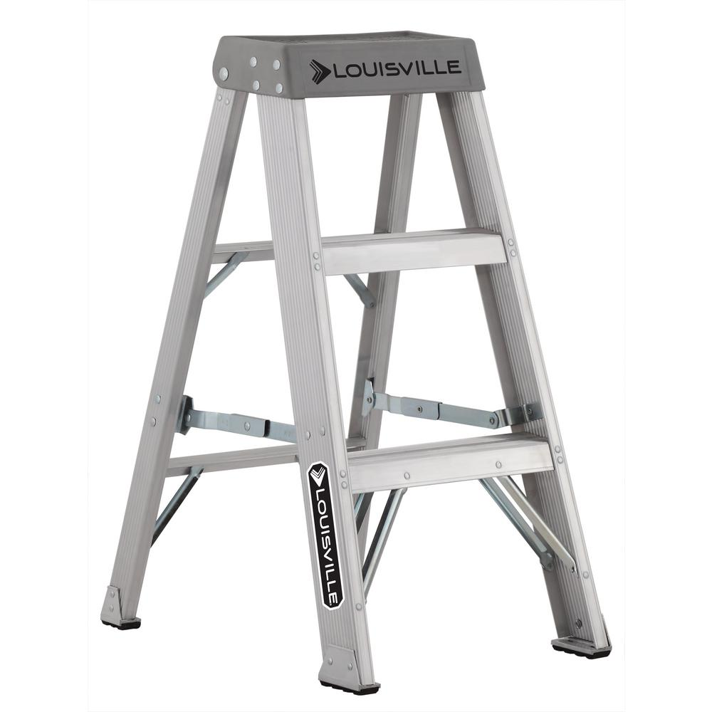 Louisville Ladder 3 Ft Aluminum Step Ladder With 300 Lbs