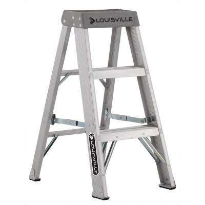 3 ft. Aluminum Step Ladder with 300 lbs. Load Capacity Type IA Duty Rating