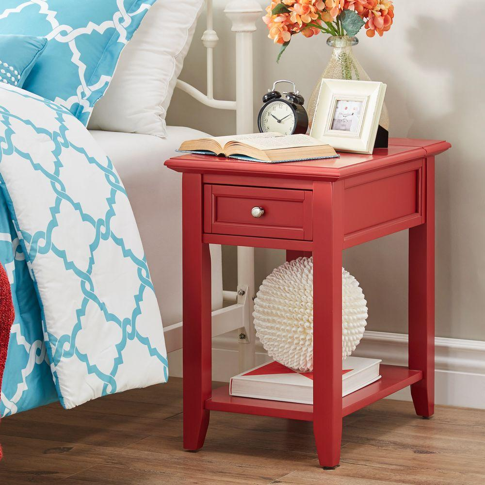 Exceptional HomeSullivan Harrison Red Side Table