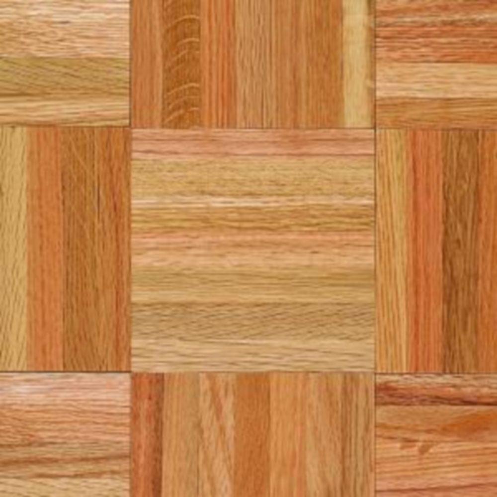 Take Home Sample - Bruce American Home Natural Oak Parquet Hardwood Flooring - 5 in. x 7 in.