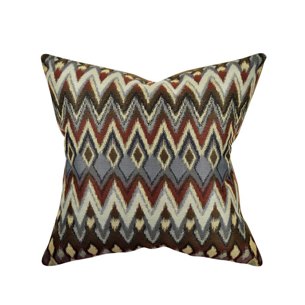 Multicolor Chevron Jacquard Throw Pillow