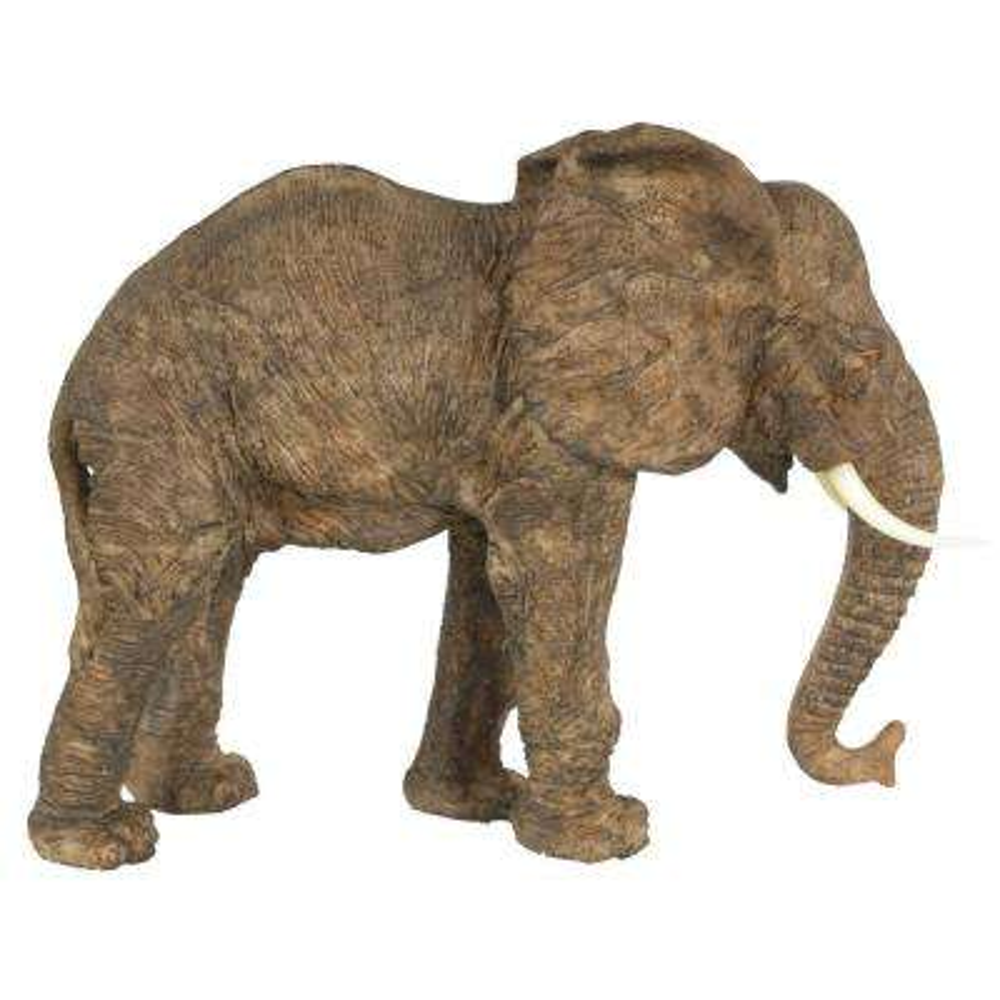 10 in. Polyresin Elephant Decorative Statue