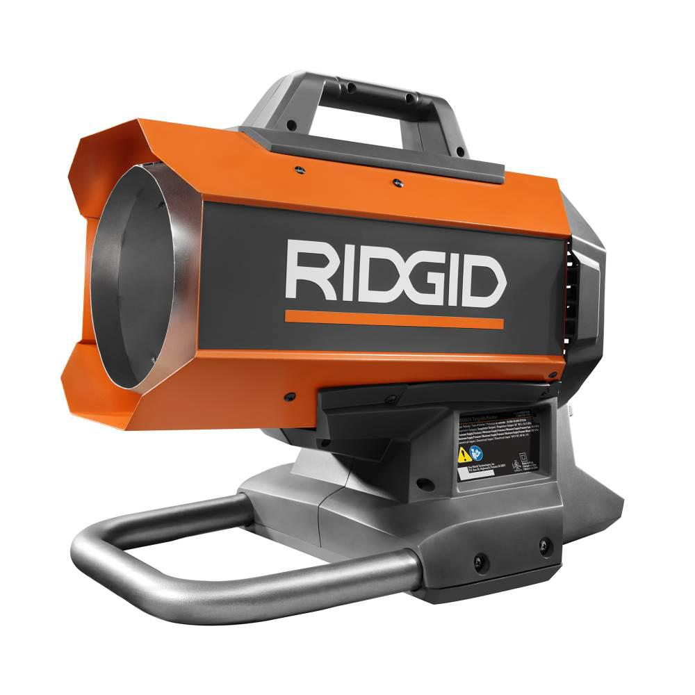 Forced Air Propane Heater >> Ridgid 18 Volt 60k Btu Hybrid Forced Air Propane Portable Heater