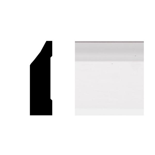 7888 3/8 in. x 1-1/4 in. x 8 ft. PVC White Colonial Stop Moulding