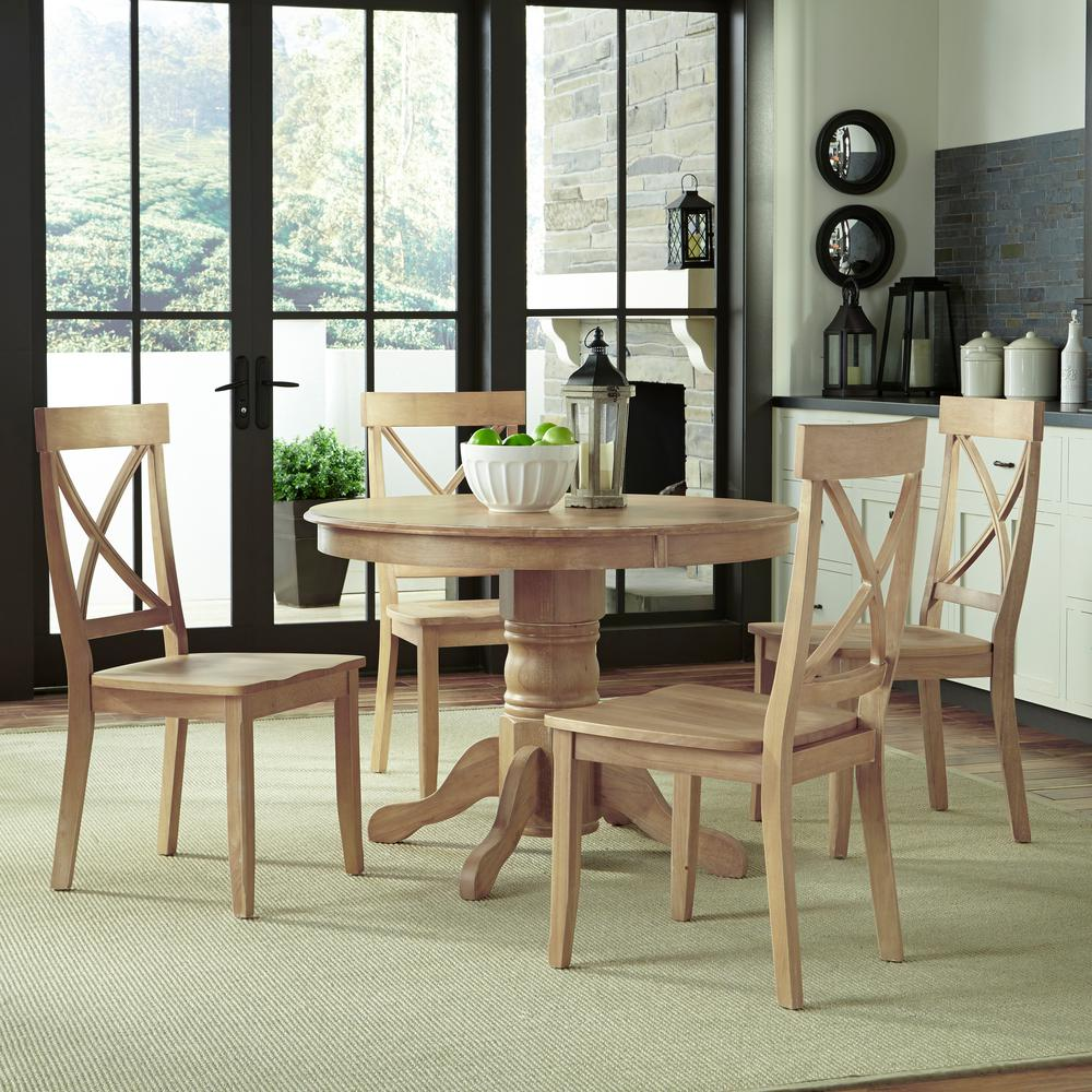 Home Styles Clic 5 Piece White Wash Dining Set 5170 308 The Depot