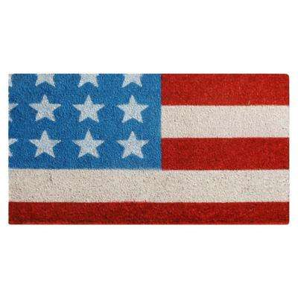 Stars and Stripes 30 in. x 18 in. Patriotic Coir Door Mat