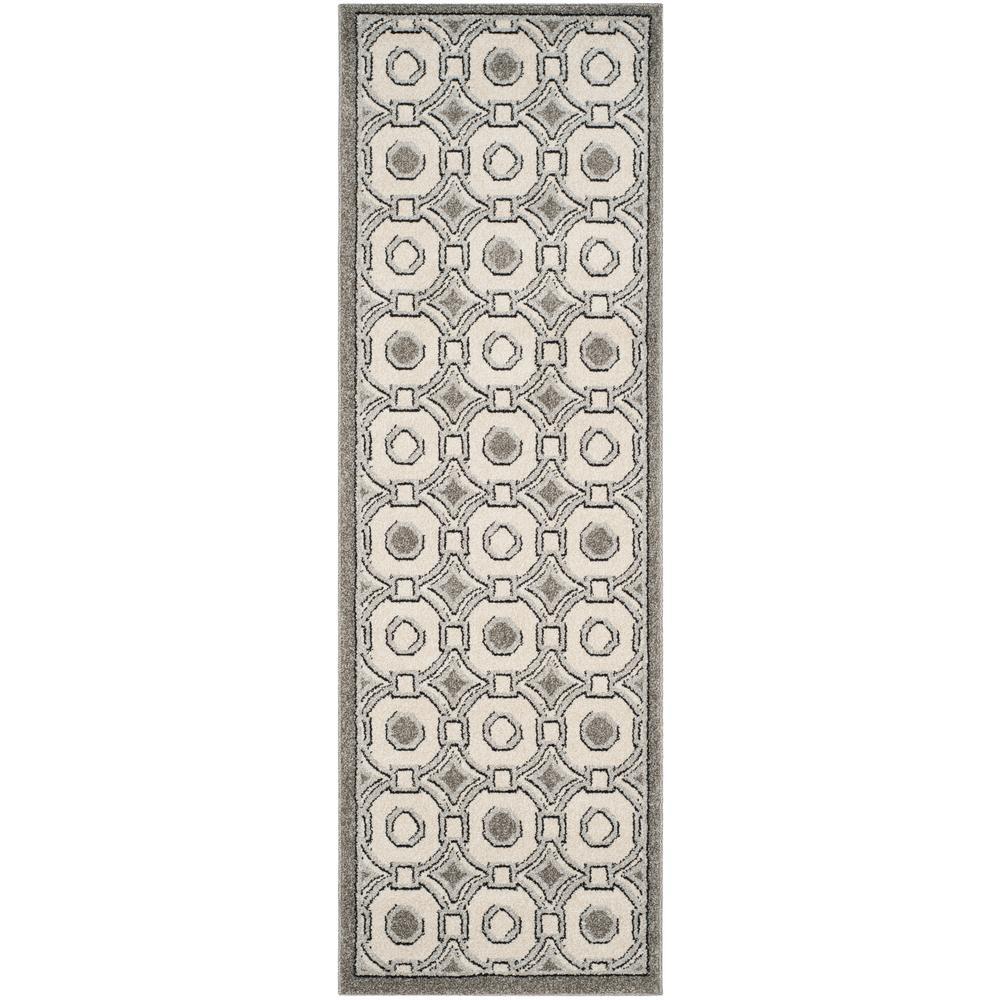 Amherst Ivory/Gray 2 ft. x 7 ft. Indoor/Outdoor Runner Rug