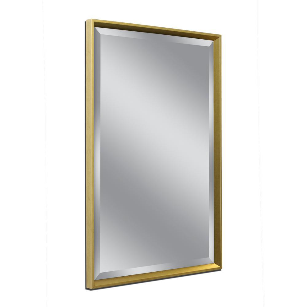 Franklin 32 in. W x 42 in. H Framed Wall Mirror in Gold