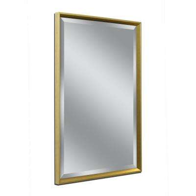 Franklin 32 in. W x 42 in. H Framed Wall Mirror in Gold