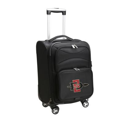 Denco NCAA San Diego State Black 21 in. Carry-On Spinner Softside Suitcase