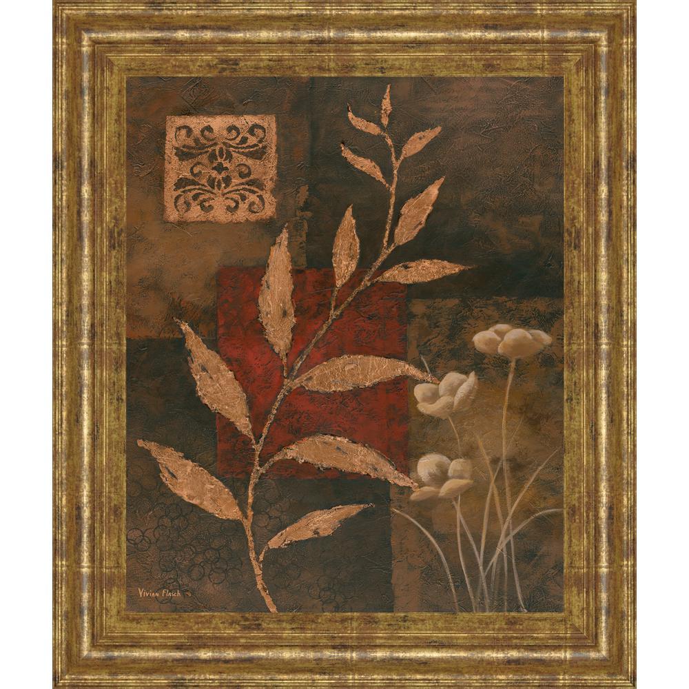 "22 in. x 26 in. ""Copper Rhythm I"" by Vivian Flasch Framed Printed Wall Art"