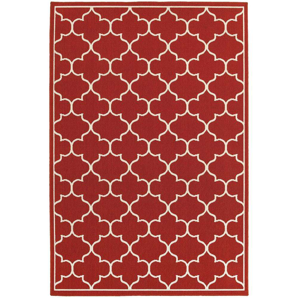 HomeDecoratorsCollection Home Decorators Collection Valley Red 4 ft. x 6 ft. Indoor/Outdoor Area Rug