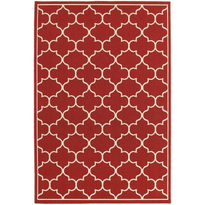 Valley Red 5 ft. x 8 ft. Indoor/Outdoor Area Rug