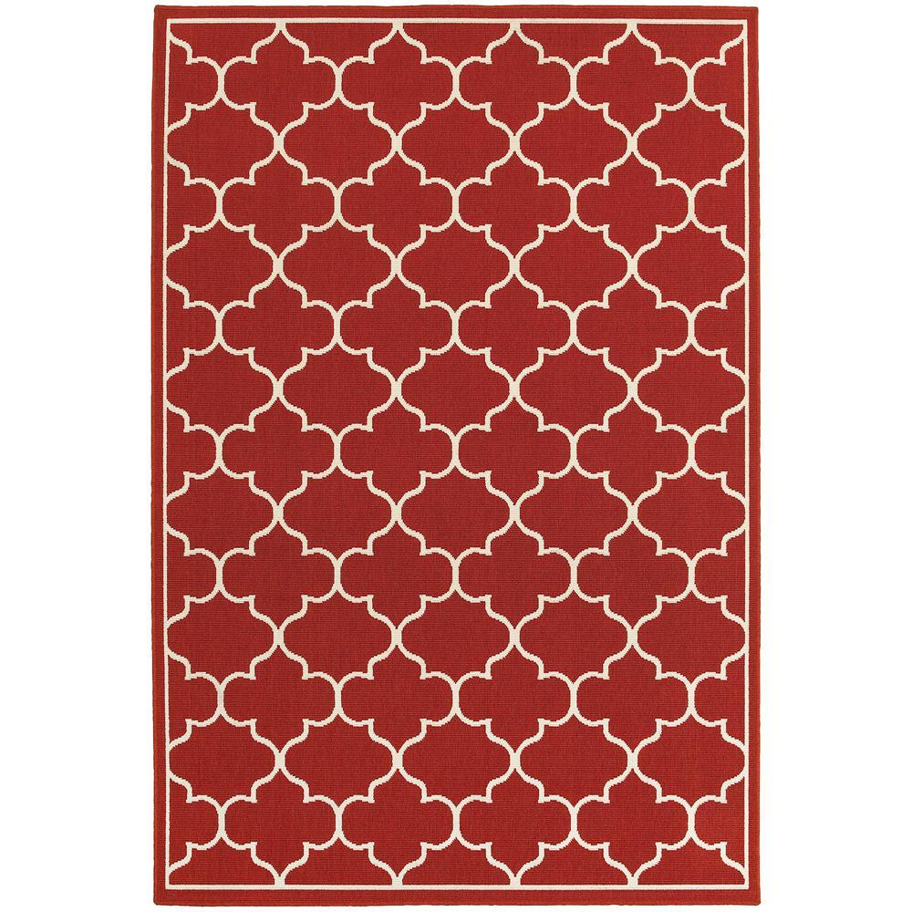Valley Red 5 ft. x 8 ft. Indoor/Outdoor Area Rug