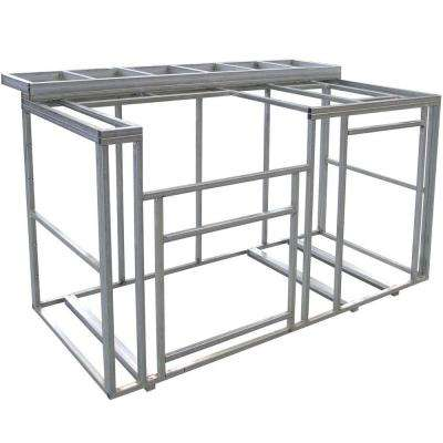 6 ft. Outdoor Kitchen Island Frame Kit with Bartop