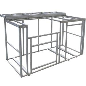 Cal Flame 6 ft. Outdoor Kitchen Island Frame Kit-KD-F6002 - The ...