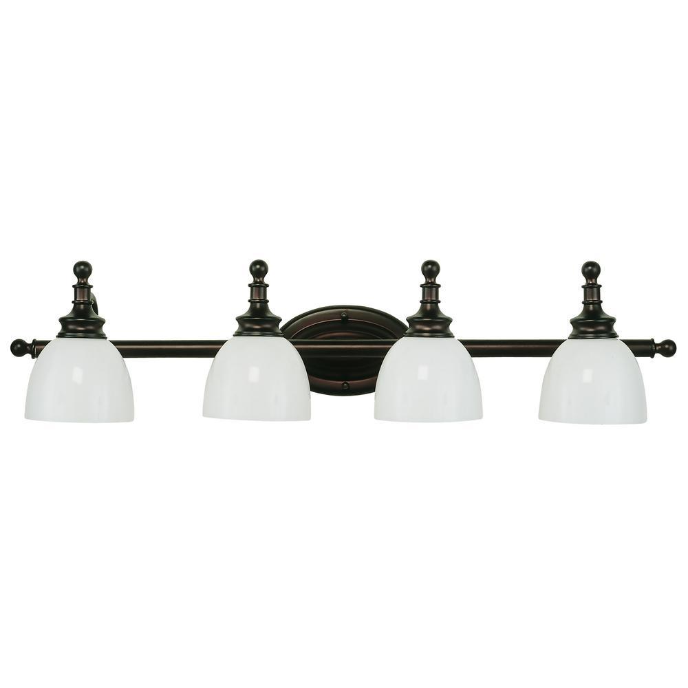 Bel Air Lighting Kovacs 4-Light Rubbed Oil Bronze Bath Light