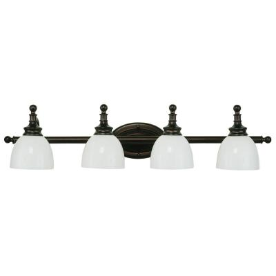 Kovacs 4-Light Rubbed Oil Bronze Bath Light