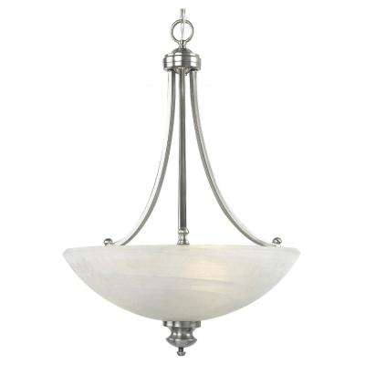 Fairlawn 18 in. W. 3-Light Brushed Steel Pendant