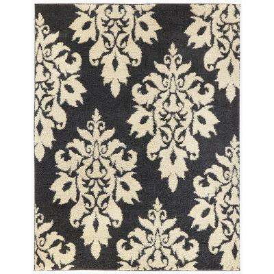 Meadow Damask Blue 7 ft. 10 in. x 10 ft. Area Rug