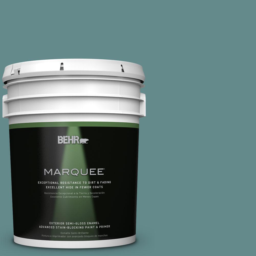 BEHR MARQUEE 5-gal. #S440-5 Tasmanian Sea Semi-Gloss Enamel Exterior Paint