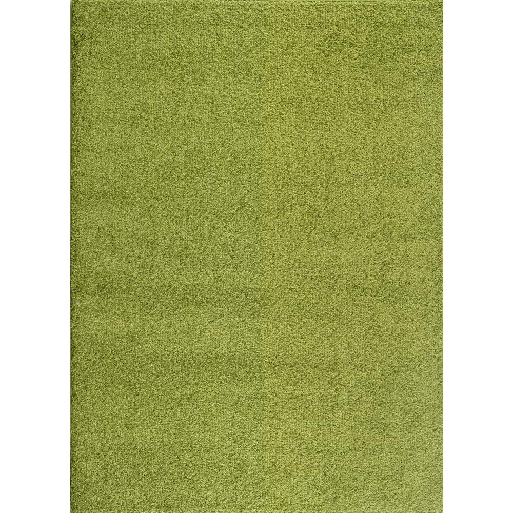World Rug Gallery Soft Cozy Solid Green 7 Ft. 10 In. X 10 Ft
