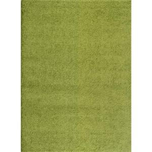 World Rug Gallery Soft Cozy Solid Green 8 Ft X 10 Ft