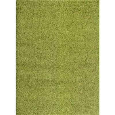 Soft Cozy Solid Green 8 Ft. X 10 Ft. Indoor Shag Area Rug